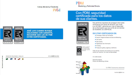 ejemplo de mailing postal personalización
